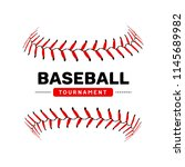baseball lace ball illustration ... | Shutterstock .eps vector #1145689982
