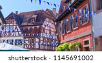 oktoberfest decoration in the... | Shutterstock . vector #1145691002