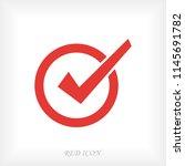 confirm icon  stock vector...   Shutterstock .eps vector #1145691782