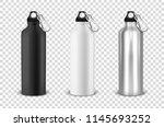 vector realistic 3d black ... | Shutterstock .eps vector #1145693252