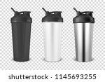 vector realistic 3d black ... | Shutterstock .eps vector #1145693255