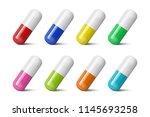 vector realistic 3d different...   Shutterstock .eps vector #1145693258