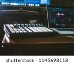 close up music machine with... | Shutterstock . vector #1145698118