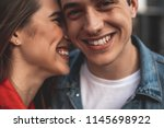 close up of male and female... | Shutterstock . vector #1145698922