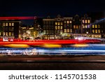 Night View Of Amsterdam City ...