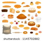 bread and pastry sweet desserts ...   Shutterstock .eps vector #1145702882