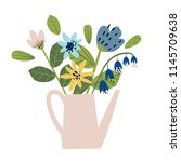 illustration with a bouquet of... | Shutterstock .eps vector #1145709638
