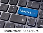 concepts of 'about us'  message ...   Shutterstock . vector #114571075