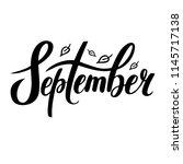 hand sketched lettering... | Shutterstock .eps vector #1145717138