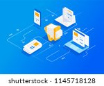 digital marketing concept.... | Shutterstock .eps vector #1145718128