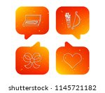 love heart  jewelry and bow... | Shutterstock .eps vector #1145721182