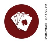 gambling cards icon in glyph...