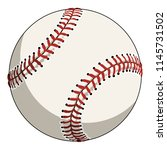 baseball  colored illustration  ... | Shutterstock .eps vector #1145731502