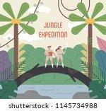 explore explorer characters in... | Shutterstock .eps vector #1145734988