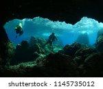 Cave Diving Underwater Scuba...