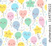 holiday or birthday seamless... | Shutterstock .eps vector #1145738222