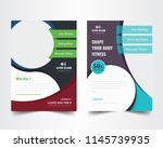 creative flyer design. modern... | Shutterstock .eps vector #1145739935