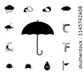 umbrella icon. detailed set of... | Shutterstock .eps vector #1145742608