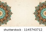 exquisite arabesque pattern in... | Shutterstock .eps vector #1145743712
