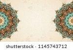 exquisite arabesque pattern in... | Shutterstock .eps vector #1145743712