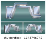 3d gate entrance for exhibition.... | Shutterstock .eps vector #1145746742