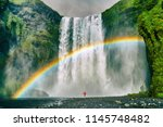 iceland waterfall travel nature ... | Shutterstock . vector #1145748482