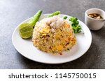fried rice with crab with... | Shutterstock . vector #1145750015