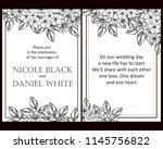 vintage delicate greeting... | Shutterstock .eps vector #1145756822