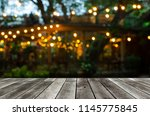 Empty modern wooden terrace...
