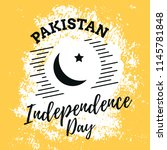 pakistan independence day. 14th ... | Shutterstock .eps vector #1145781848