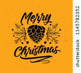 merry christmas. typography.... | Shutterstock .eps vector #1145782352
