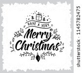 merry christmas. typography.... | Shutterstock .eps vector #1145782475