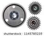 A Group Of Three Steel Gears...