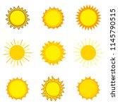 cute sun icon logo design....