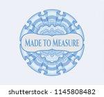 light blue money style rosette... | Shutterstock .eps vector #1145808482