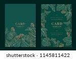 greenery greeting invitation... | Shutterstock .eps vector #1145811422