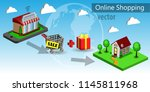mobile shopping e commerce | Shutterstock .eps vector #1145811968