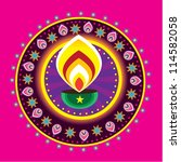 vector diwali candle light | Shutterstock .eps vector #114582058