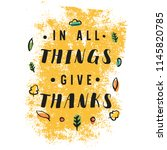 thanksgiving day. logo  text... | Shutterstock .eps vector #1145820785