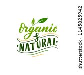 organic and natural label.... | Shutterstock .eps vector #1145825942