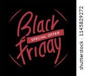 black friday instagram post... | Shutterstock .eps vector #1145829272