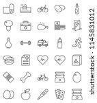 thin line vector icon set   oil ...   Shutterstock .eps vector #1145831012