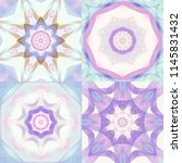 set of abstract pastel fractals ... | Shutterstock . vector #1145831432
