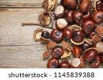 Heap Of Fresh Horse Chestnuts...