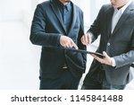 business concept  businessman... | Shutterstock . vector #1145841488