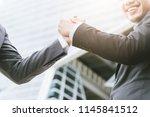 business concept  businessman...   Shutterstock . vector #1145841512