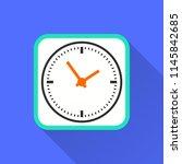vector clock time icon....   Shutterstock .eps vector #1145842685