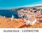 top view in cadaques  catalonia ...   Shutterstock . vector #1145842748