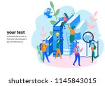 concept education  online... | Shutterstock .eps vector #1145843015