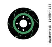 car brake disc | Shutterstock .eps vector #1145844185
